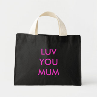 LUV YOU MUM MINI TOTE BAG