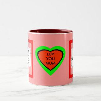 LUV YOU MUM Two-Tone COFFEE MUG
