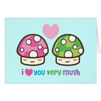 luv you mush card
