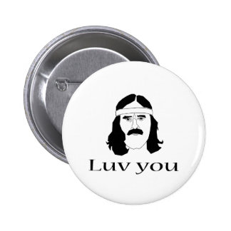 Luv you pinback button