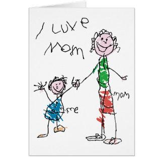 Luve Mom Greeting Card