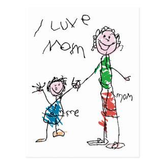 Luve Mom Postcard
