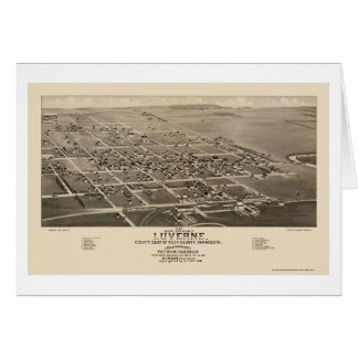 Luverne, MN Panoramic Map - 1883 Card
