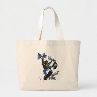 Luvin Livin Snow Boarder Graphic Beach Style Bag