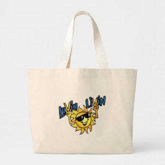 Luvin Livin Sun Graphic Beach Style Bag