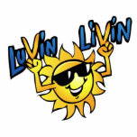 Luvin Livin Sun Graphic Photo Sculpture