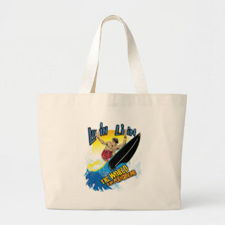 Luvin Livin Surfer Graphic Beach Style Bag