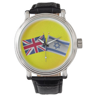 LuvIsrael Reino Unido y bandera de Israel Reloj