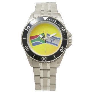 LuvIsrael surafricano y bandera de Israel Reloj