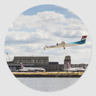 Lux Air London City Airport Classic Round Sticker