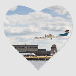 Lux Air London City Airport Heart Sticker
