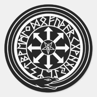 Lux Occulta - luz ocultada Pegatina Redonda