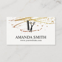 Lux Splatter Hairdresser Business Card