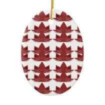 LUX. Vintage mandalas red Ceramic Ornament