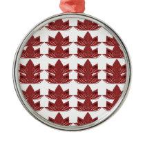 LUX. Vintage mandalas red Metal Ornament