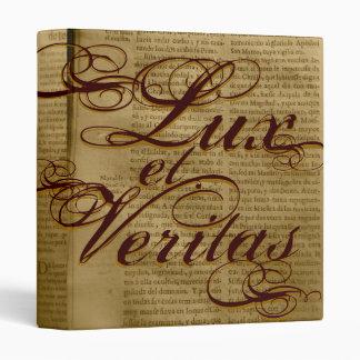 Lux y carpeta del latín de la luz y de la verdad d