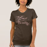 Lux y Veritas, cita latina Camisetas