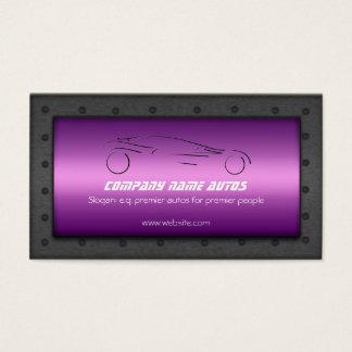 Luxe Auto on Purple Chrome effect - Sportscar logo Business Card