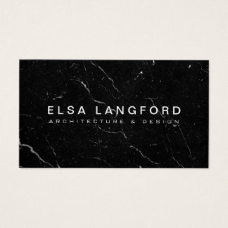 Luxe Black Marble II Architecture, Interior Design Business Card