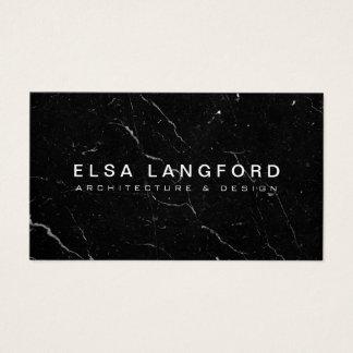 Luxe Black Marble II Architecture, Interior Design Business Card