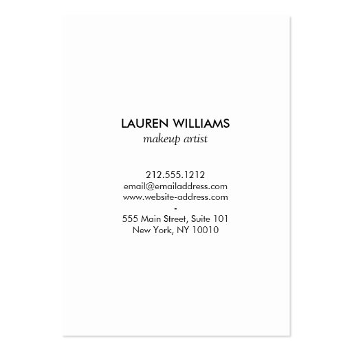 Luxe Bold Black and White Stripes Gold Box Large Business Cards (back side)