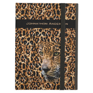 Luxe Brown Leopard Fur Exotic Wild Cat Camouflage iPad Air Cover