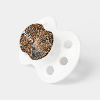 Luxe Brown Leopard Fur Exotic Wild Cat Camouflage Pacifier