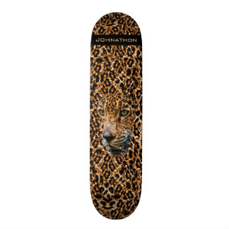 Luxe Brown Leopard Fur Exotic Wild Cat Camouflage Skate Decks