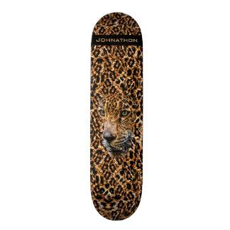 Luxe Brown Leopard Fur Exotic Wild Cat Camouflage Skateboard Deck