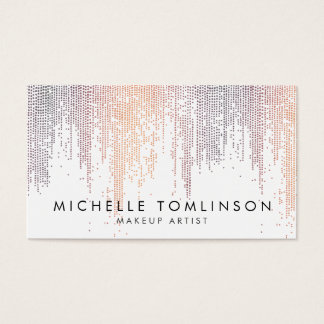 Luxe Colorful Confetti Rain Pattern Business Card