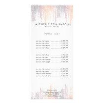 Luxe Colorful Confetti Rain Pattern Rack Card