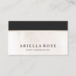 Luxe Elegant Black and White Marble Business Card