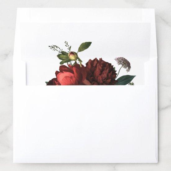Luxe Elegant Floral Bouquet Envelope Liner