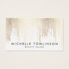 Luxe Faux Gold Confetti Rain Pattern Business Card at Zazzle