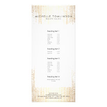 Luxe Faux Gold Confetti Rain Pattern Rack Card