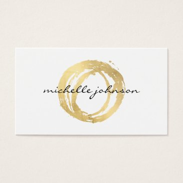Halloween Themed Luxe Faux Gold Painted Circle Designer Logo Business Card