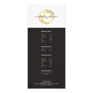 Luxe Faux Gold Painted Circle Designer Logo Rack Card