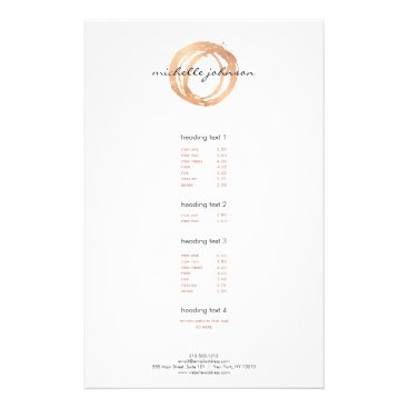Luxe Faux Rose Gold Painted Circle Designer Logo Flyer