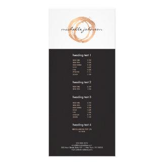 Luxe Faux Rose Gold Painted Circle Designer Logo Rack Card