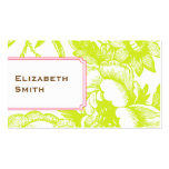 Luxe Floral Green Business Card