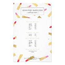 Luxe Glam Lipstick Pattern Makeup Artist Flyer