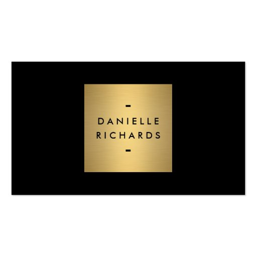 Luxe Glamour Black and Gold Business Card