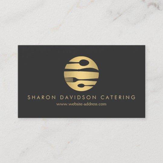 Luxe gold and black catering restaurant chef business card luxe gold and black catering restaurant chef business card colourmoves