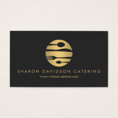 Luxe Gold And Black Catering, Restaurant, Chef Business Card at Zazzle