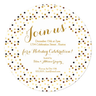 Luxe Gold Glam Holiday Party Invitation