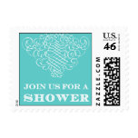 Luxe - Join Us for a Shower - Blue Postage