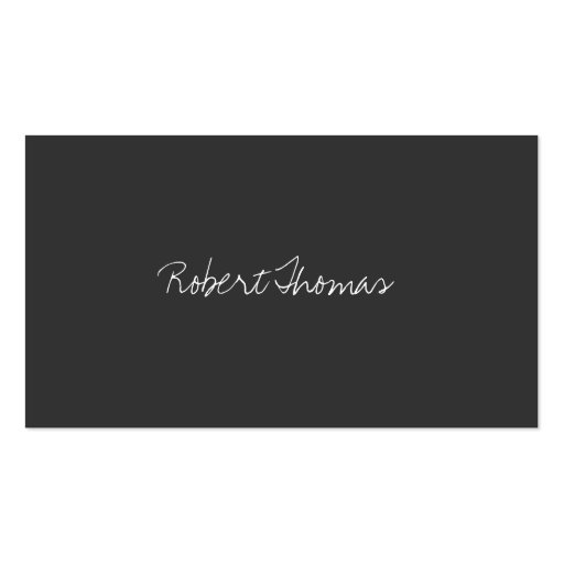 LUXE MINIMALISM HANDWRITTEN TEXT BUSINESS CARDS