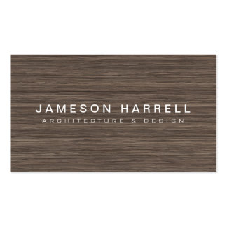 Luxe Modern Wood Architect, Furniture Designer Double-Sided Standard Business Cards (Pack Of 100)