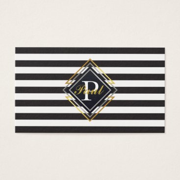 Professional Business Luxe Monogram Business Card