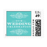 Luxe - Our Wedding Celebration - Blue Postage Stamps